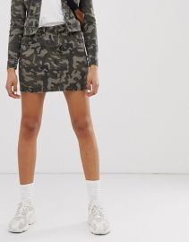 Noisy May denim camo print skirt   ASOS at Asos