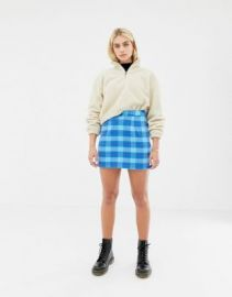 Noisy May plaid skirt at asos com at Asos