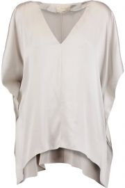 Nola draped washed stretch-silk top at The Outnet