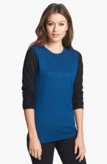 Nordstrom Collection Colorblock Cashmere Sweater at Nordstrom