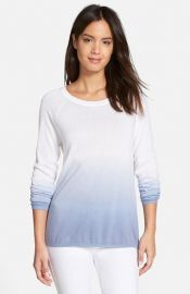 Nordstrom Collection and39Lulaand39 Dip Dye Cotton Blend Sweater at Nordstrom