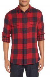 Nordstrom Men s Shop Trim Fit Buffalo Plaid Flannel Shirt Jacket at Nordstrom