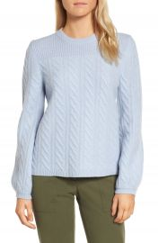 Nordstrom Signature Cable Cashmere Sweater at Nordstrom