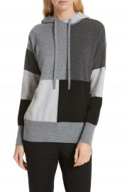 Nordstrom Signature Colorblock Cashmere Hoodie   Nordstrom at Nordstrom