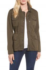 Nordstrom Signature Sateen Utility Jacket at Nordstrom