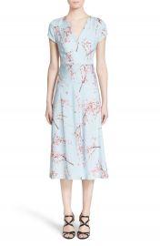 Nordstrom Signature and Caroline Issa Floral Print Silk Twill Midi Dress at Nordstrom