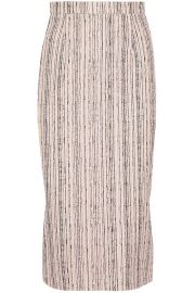 Norley crepe-paneled bouclé pencil skirt at The Outnet