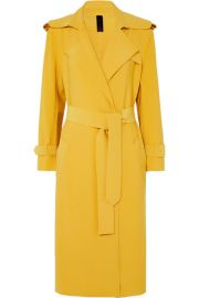 Norma Kamali - Belted cady trench coat at Net A Porter