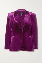 Norma Kamali - Stretch-velvet blazer at Net A Porter