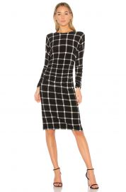 Norma Kamali DOLMAN SHIRRED WAIST DRESS at Revolve