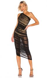 Norma Kamali Diana Gown in Black Mesh from Revolve com at Revolve
