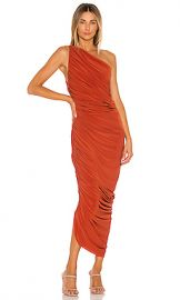 Norma Kamali Diana Gown in Cinnamon from Revolve com at Revolve