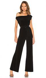 Norma Kamali Drop Shoulder Jumpsuit in Black from Revolve com at Revolve