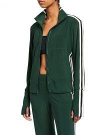 Norma Kamali Side-Stripe Turtle Track Jacket at Neiman Marcus