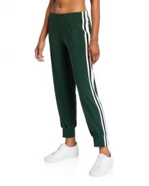 Norma Kamali Side Striped Jogger Pants at Neiman Marcus