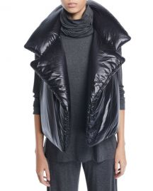 Norma Kamali Sleeping Bag Open-Front Puffer Vest at Neiman Marcus