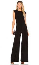 Norma Kamali Sleeveless Jumpsuit in Black from Revolve com at Revolve