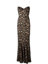 Norma Kamali Strapless Lace Gown at Farfetch