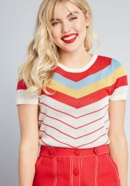 Nostalgic Bliss Short Sleeve Sweater at Modcloth