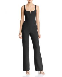 Notched Neckline Straight-Leg Jumpsuit at Bloomingdales