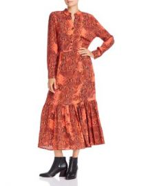 Notes du Nord Monroe Snakeskin Print Button Dress Women - Bloomingdale s at Bloomingdales
