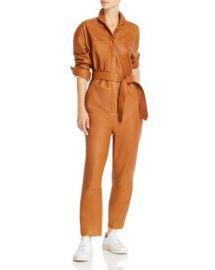 Notes du Nord Nixon Belted Leather Jumpsuit Women - Bloomingdale s at Bloomingdales