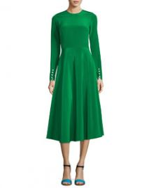 Novis The Canaan Long-Sleeve Circle Skirt Dress at Bergdorf Goodman