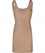 Nude leather dress at Stylebop