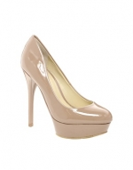 Nude patent pumps at ASOS at Asos