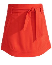 Nyrie Tie Waist Mini Skirt by Veronica Beard at Veronica Beard