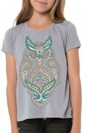 O Neill  Woodblock Owl  Graphic Tee  Little Girls   Big Girls at Nordstrom