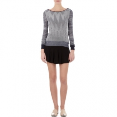 O2nd Chevron Knit Lux Sweater at Barneys