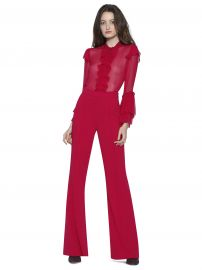 ODELE TRUMPET SLEEVE RUFFLE BLOUSe at Alice and Olivia