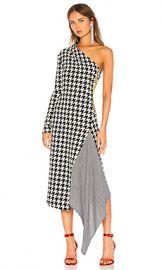 OFF-WHITE One Shoulder Dress in Black  amp  White from Revolve com at Revolve