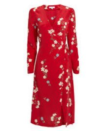 OTTAVIA PRINTED WRAP DRESS at Intermix