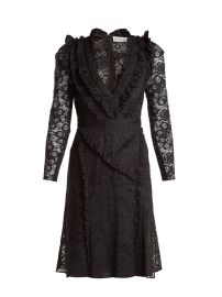OURIKA VALENCIENNE LACE RUFFLE-TRIMMED DRESS altuzarra at Matches