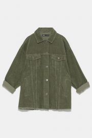 OVERSIZED CORDUROY OVERSHIRT WITH POCKETS at Zara