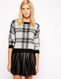 Oasis Checked Sweater at Asos