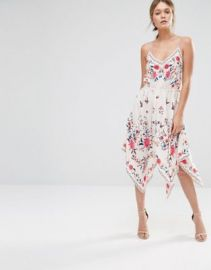 Oasis Printed Hanky Hem Dress at asos com at Asos