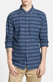 Obey and39Baileyand39 Stripe Woven Shirt at Nordstrom