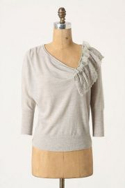 Oblique Pointelle Pullover at Anthropologie