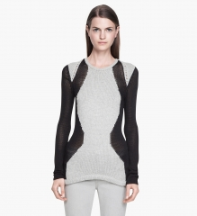 Obstructed Borders Pullover at Helmut Lang