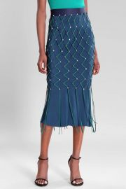 Ocean Vivica High Waisted Pencil Skirt by Cushnie at Orchard Mile