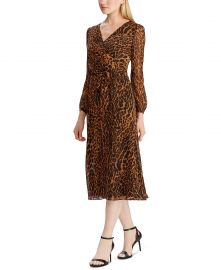 Ocelot-Print Georgette Dress at Macys