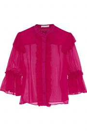 Odele ruffle-trimmed silk-chiffon blouse at The Outnet