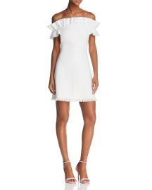 Off Shoulder Dress by Rebecca Taylor at Bloomingdales