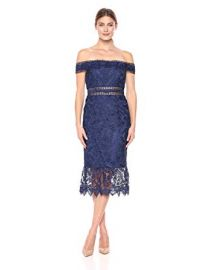 Off Shoulder Lace Dress by Aidan Mattox at Amazon