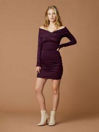 Off Shoulder Ruched Mini Dress at Diane von Furstenberg