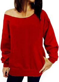 Off Shoulder Sweatshirt by Lymanchi at Amazon