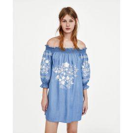 Off The Shoulder Boho Dresses at Zara